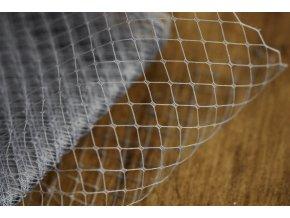 Francouzský závoj v šedé barvě