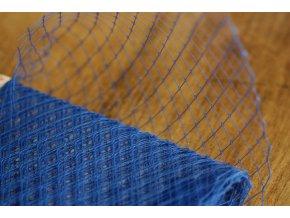 Francouzský závoj v modré barvě