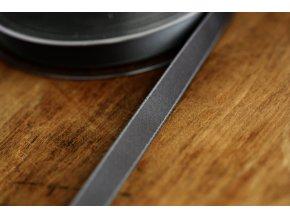 Šedá saténová stuha, 10 mm