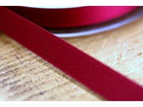 Vínově červená saténová stuha, 10 mm