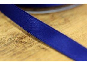 Tmavě modrá saténová stuha, 10 mm