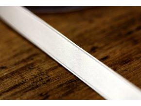 Bílá saténová stuha, 10 mm