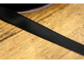 Černá saténová stuha, 10 mm