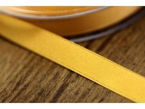 zlatá saténová stuha, 10 mm