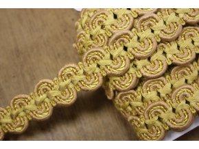 Bavlněný prýmek větší vlna, 20 mm