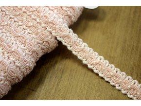 Světle růžový prýmek ve stylu Chanel