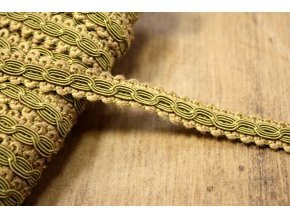Prýmek ve stylu Chanel, bahenní zelená