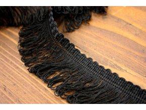 Černé, viskózové třásně, 40 mm