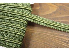 Plastický, ozdobný prýmek zelený