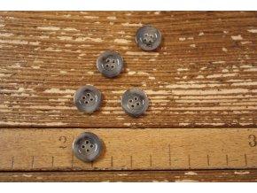 Šedý melírovaný knoflík, 15 mm