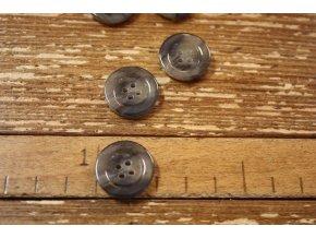 Šedý melírovaný knoflík, imitace mramoru