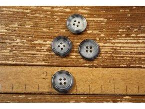 Šedý melírovaný knoflík, 18 mm