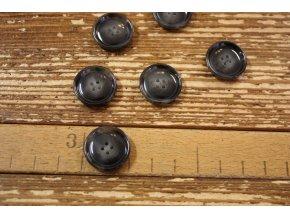 Tmavě šedý melírovaný knoflík, 20 mm