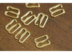 Zlaté zapínání na podprsenku, 10mm