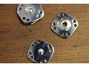 Stříbrné hranaté patenty, 20mm