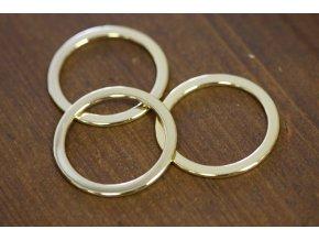 Minimalistická zlatá spona kruh, 35 mm