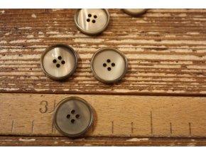Béžovozelený knoflík, 20 mm