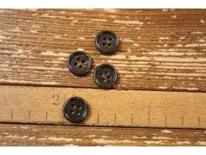 Hnědý mramorový knoflík 15 mm