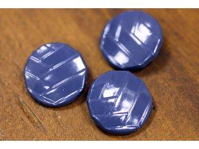 Kovový knoflík á la Chanel, Blue, 20mm
