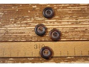 Hnědý mramorový knoflík proštepovaný, 18 mm