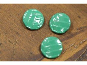 Kovový knoflík á la Chanel, Green, 20mm