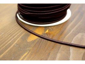 Hnědá klobouková guma, 3 mm