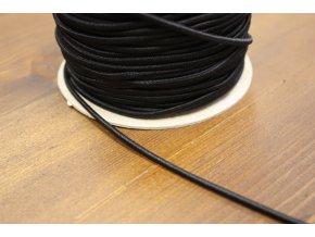 Černá klobouková guma, 3 mm