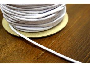 Bílá klobouková guma, 3 mm