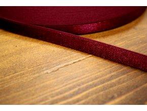 Bordó prádlová, ramínková guma, 10 mm