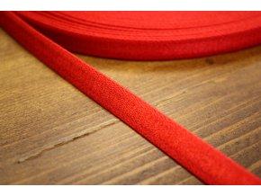 Červená prádlová, ramínková guma, 10 mm