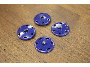 Barevné patenty v modrém odstínu, 21 mm