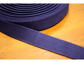 Tmavě modrá guma, 20 mm