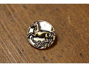 Zlatý knoflík s koněm, 20 mm