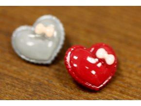Plastová srdce, 22 mm