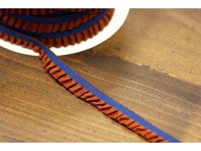 Modrá guma s oranžovým volánkem, 11mm