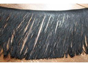 Dlouhé černé třásně, 30 cm