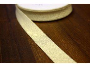 Zlatý šikmý proužek, 15 mm
