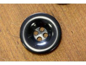 Černý knoflík, 27mm