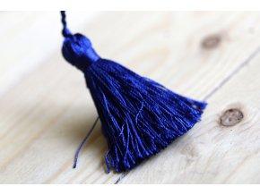 Tmavě modré střapce, 6 cm