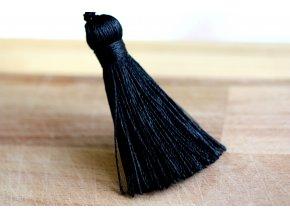 Černé střapce, 6 cm