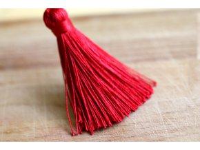 Červené střapce, 6 cm