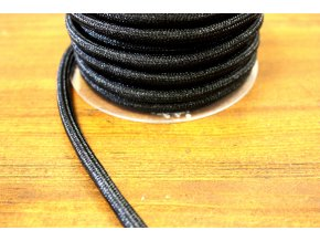 Černý provaz, 7mm