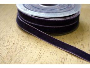 Tmavě šedá sametová guma, 9 mm