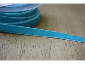 Tyrkysová sametová guma, 9 mm