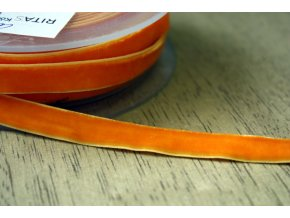 Oranžová sametová guma, 9 mm