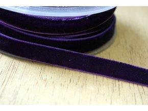 Tmavě fialová sametová guma, 9 mm
