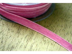 Růžová sametová guma, 9 mm