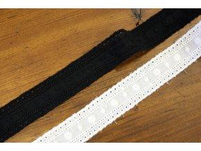 Černá a bílá bavlněná madeira, 28 mm