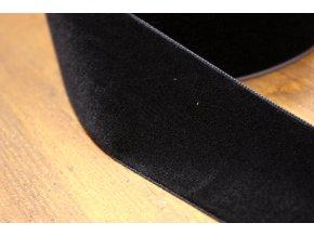 Černá sametová stuha, 50 mm