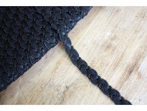 Viskózový prýmek černý, 12mm
